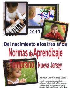 Del Nacimiento a Los Tres Años Normas de Aprendizaje